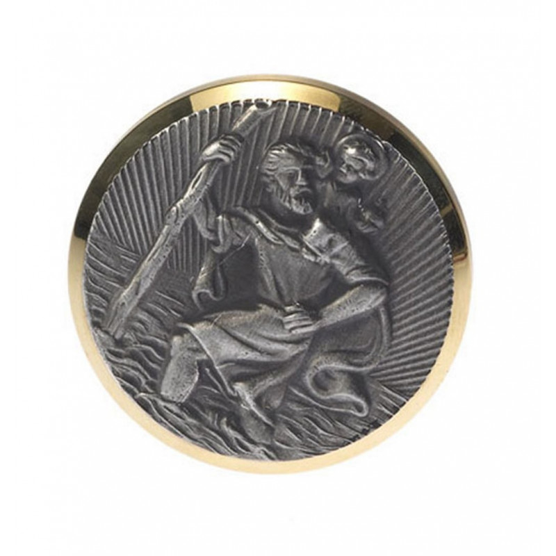 St. Christophorus-Plakette 43mm Selbstklebend